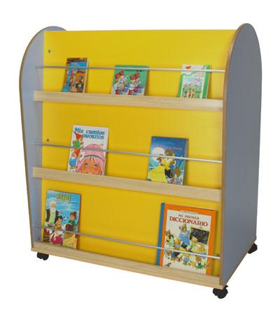Mobiliario bibliotecas infantiles carro alto y expositor for Muebles para preescolar