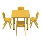 mesitas y sillas de plastico