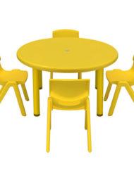 Mesas y sillas infantiles para guarderia venta a empresas for Sillas amarillas