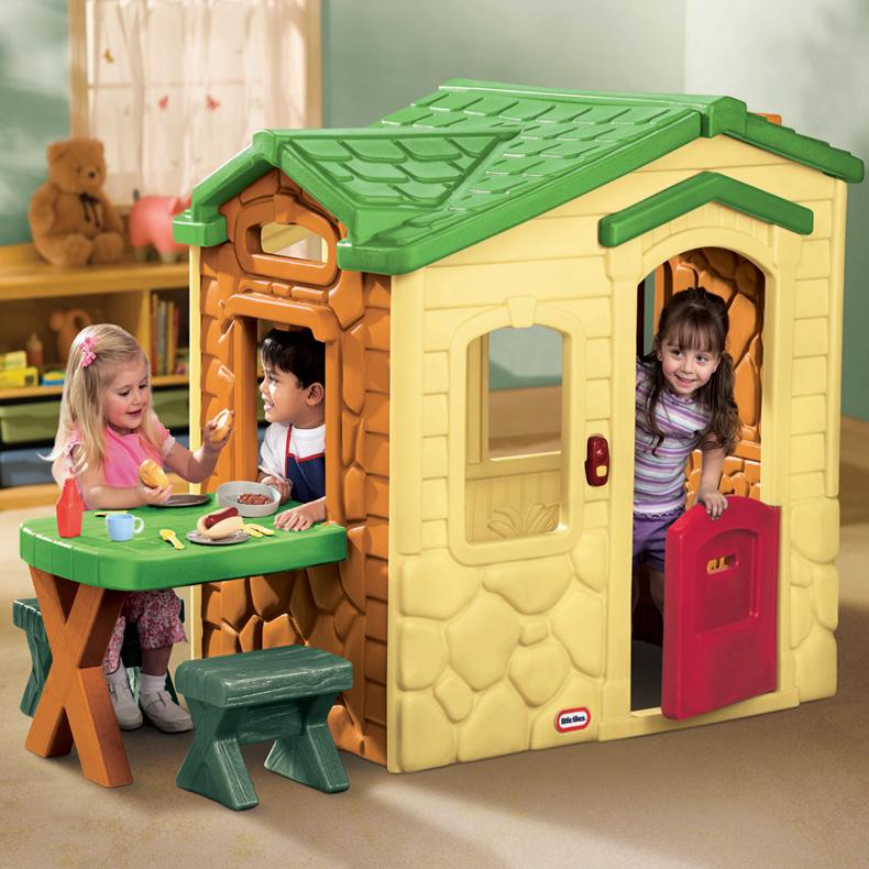 Casas de juguete para jardin casa picnic patio de little for Casa juguete jardin