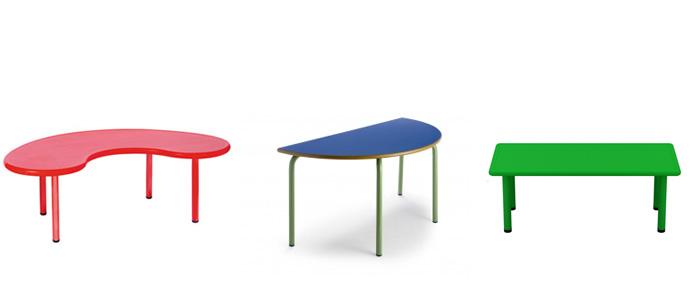 Propuesta de equipamiento para aula de guarderia 1 2 a os for Mesa con sillas dentro