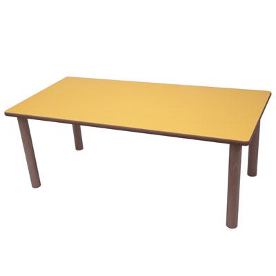 mesa rectangular de madera